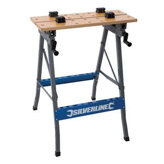 Silverline Heavy-Duty' werkbank met kantelbaar werkblad 150 kg