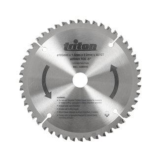 Triton Hout cirkelzaagblad 165 x 20 mm, 48T TTS48TCG