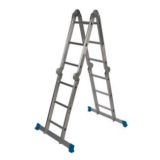 Silverline Multifunctionele ladder met platform 3,6 m (12 sporten)