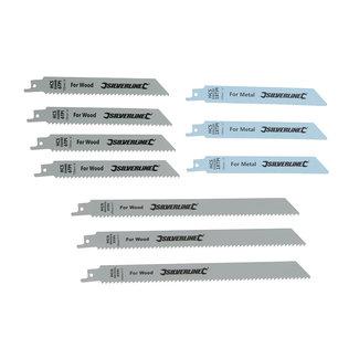 Silverline Reciprozaagblad voor hout en metaal, 10 pak HCS: 240 en 150 mm