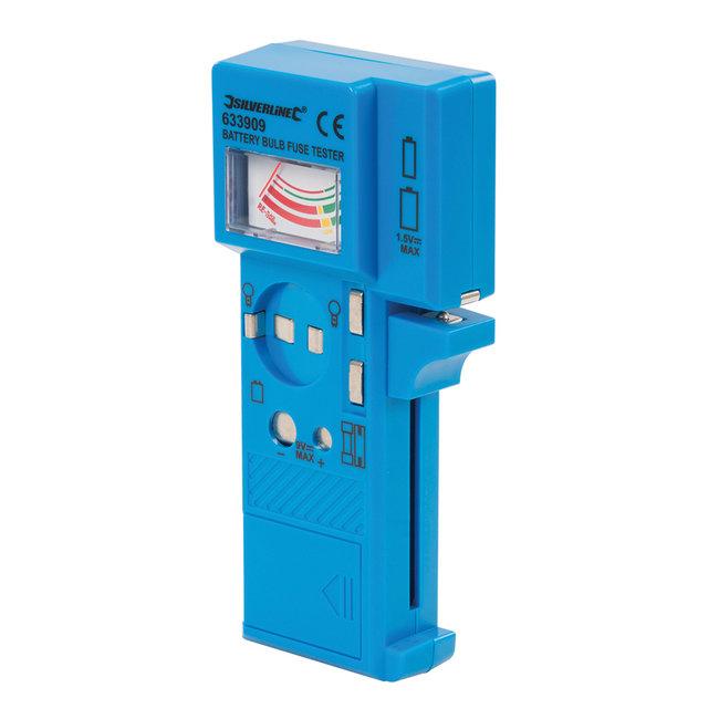Silverline Batterij, zekering en lamp tester 1,5 V - 9 V