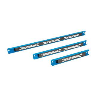 Silverline 3 delige magnetische gereedschapsrek set 200, 300 en 460 mm