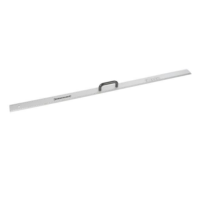 Silverline Aluminium liniaal met handvat 1200 mm