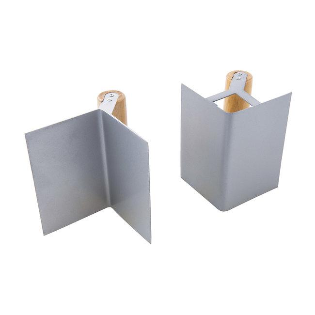 Silverline 2 delige hoektroffelset 125 x 80 mm