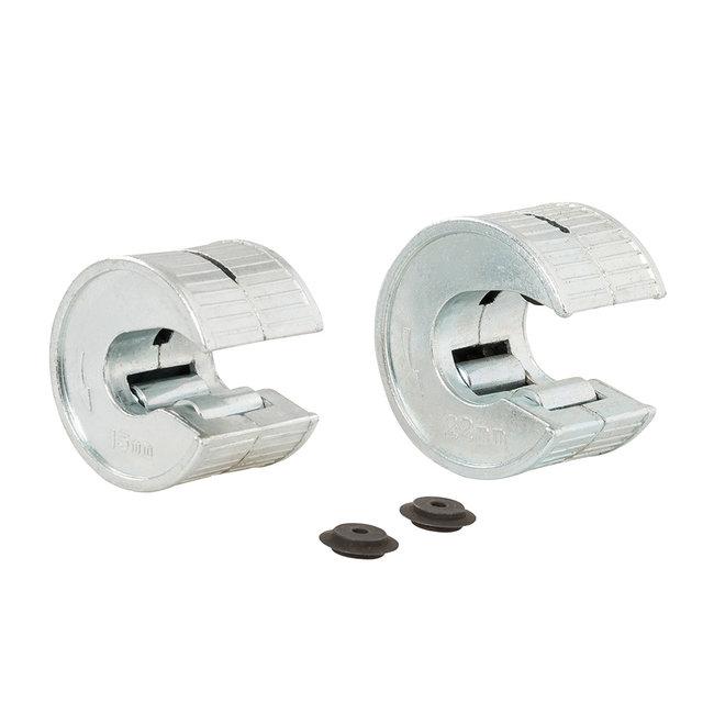 Dickie Dyer 4 delige roterende koper pijpsnijder set 15 en 22 mm