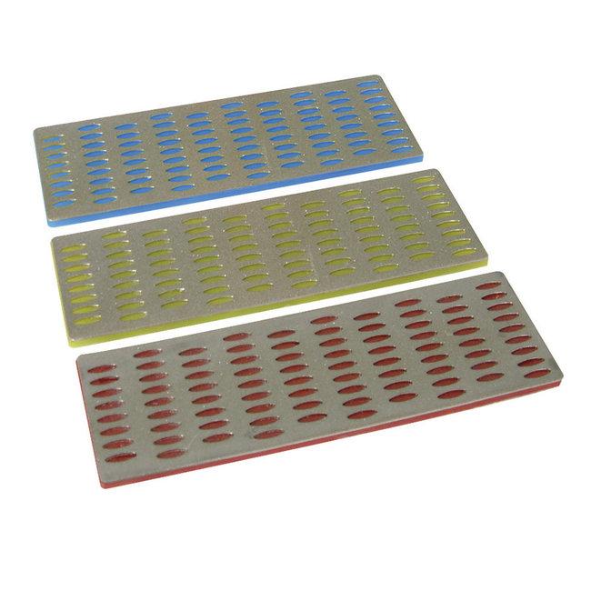 Silverline 3 delige diamant wetstenen set 50 x 150 mm