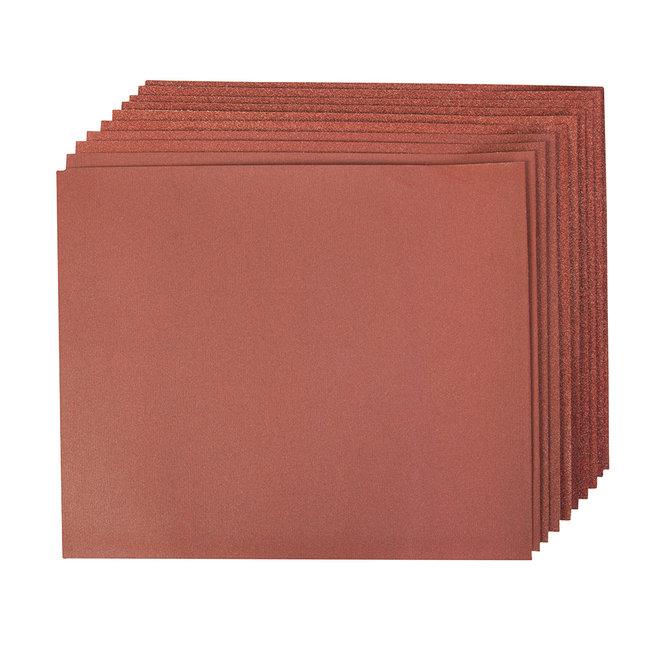 Silverline Aluminiumoxide handschuurvellen, 10 pak 4 x 60, 2 x 80, 120, 240 korrelmaat