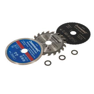 Silverline 3 delige mini zaagblad set 85 mm diameter - 15 mm asgat