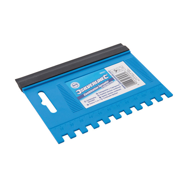 Silverline Combinatie lijmkam en droogblad 125 x 95 mm, 6 mm tanden