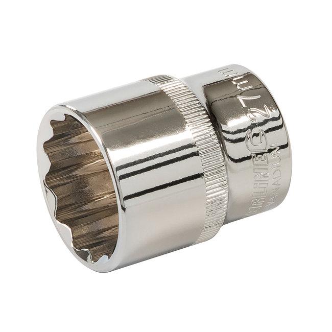 """Silverline 10 delige set met 1/2"""" metrische zeskantdoppen 27 mm"""