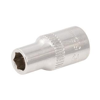 """Silverline Zeskantige 1/4"""" metrische dop 5,5 mm"""