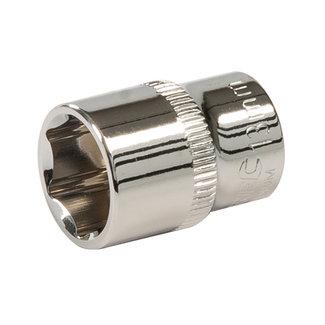 """Silverline Zeskantige 1/4"""" metrische dop 13 mm"""