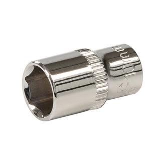 """Silverline Zeskantige 1/4"""" metrische dop 10 mm"""
