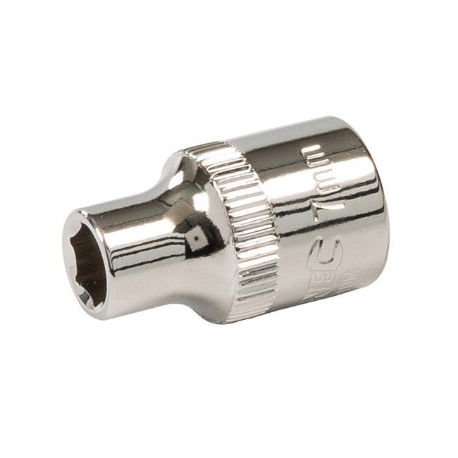 """Silverline Zeskantige 3/8"""" metrische dop 7 mm"""