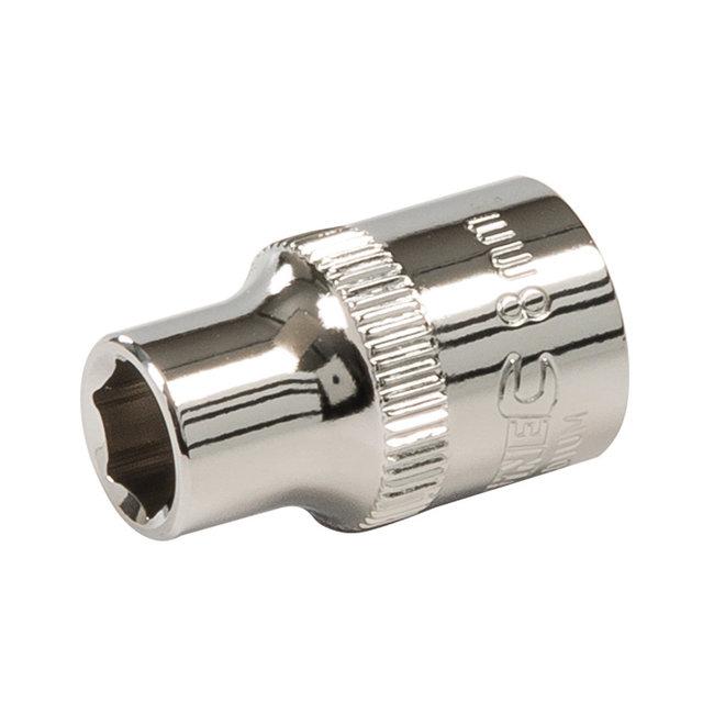 """Silverline Zeskantige 3/8"""" metrische dop 8 mm"""