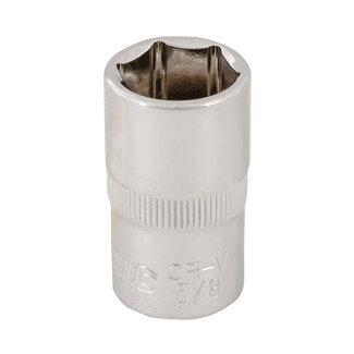 """Silverline Zeskantige 3/8"""" metrische dop 16 mm"""