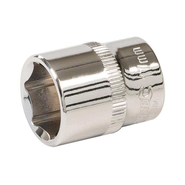 """Silverline Zeskantige 3/8"""" metrische dop 17 mm"""