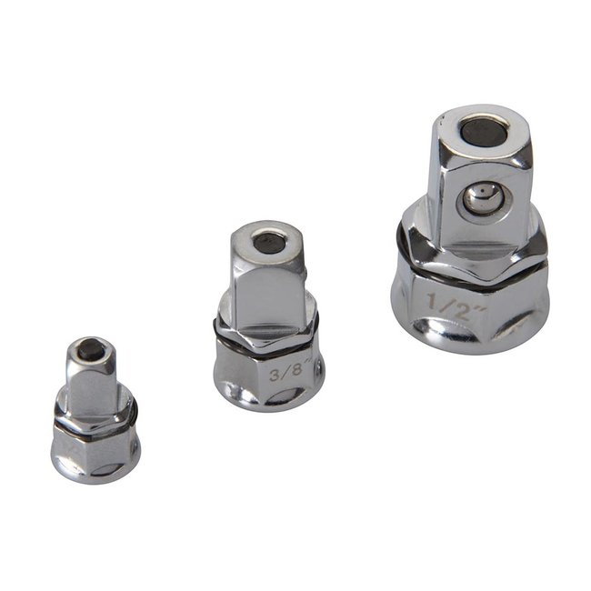 Silverline 3 delige ratelsleutel adapter set
