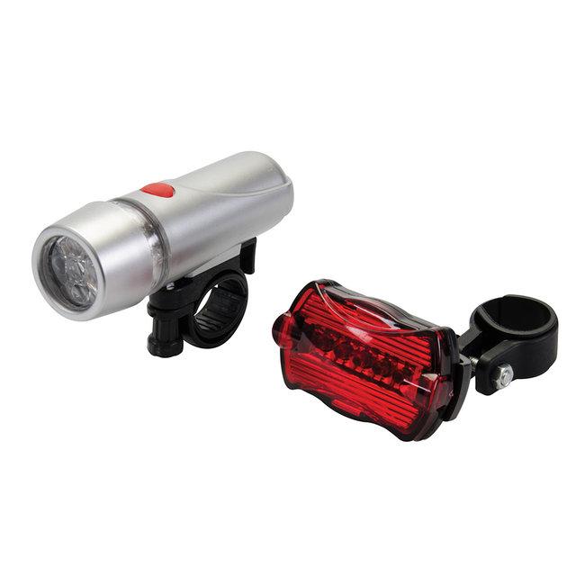 Silverline 5 LED fiets lampjes, 2 stuks