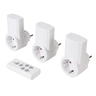 Powermaster Stopcontact met draadloze afstandsbediening, 230 V 3 pak