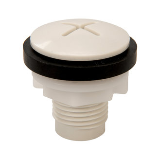 Plumbob Blinde plug, wit 21 - 30 mm