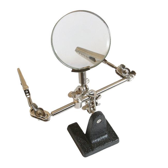 Silverline Derde hand met vergrootglas Lens 63 mm 2,5x vergrotend