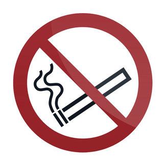 Fixman Waarschuwingsbord: Verboden te roken symbool 100 x 100 mm, zelfklevend