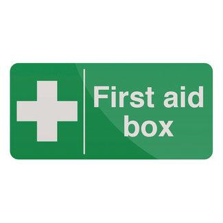 Fixman Waarschuwingsbord: EHBO doos 200 x 100 mm, zelfklevend