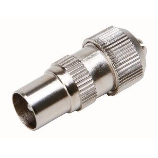 Kopp Coaxstekker recht man 6,5mm metaal