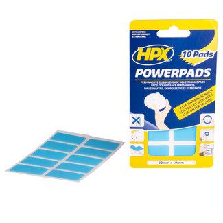 HPX PowerPads dubbelzijdige bevestigingspads 20mm x 40mm, 10 stuks