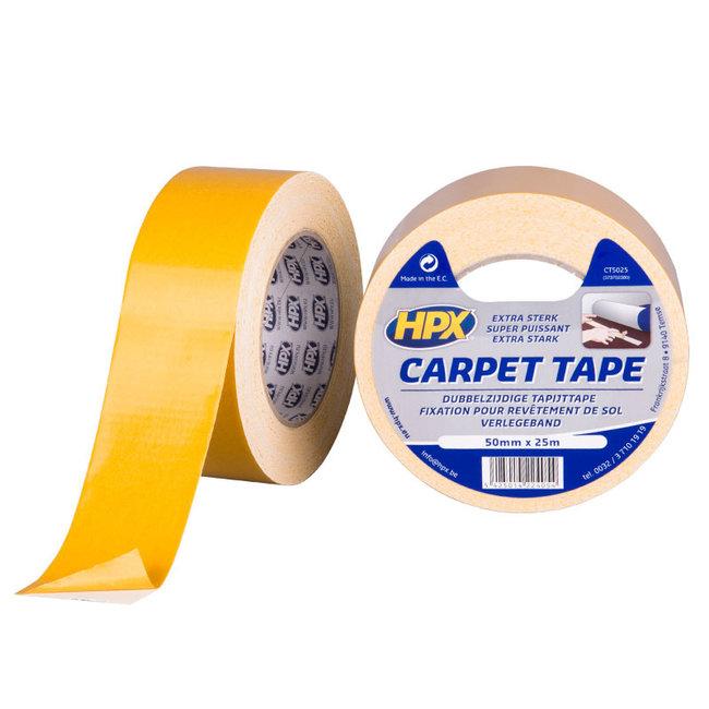 HPX Dubbelzijdige tapijttape - wit 50mm x 25 meter
