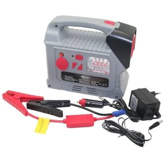 Hofftech Jumpstarter & Acculader + Compressor, USB, LED Lamp, 12V / Lithium 7.8Ah
