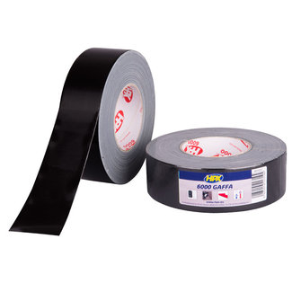 HPX Gaffa tape 6000 'Sound & Light' - zwart 50 mm x 50 meter