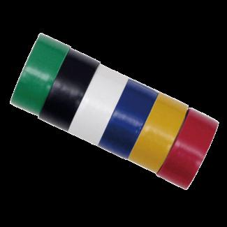 Work-it Isolatietape 6 rollen 19mm x 2,5 meter