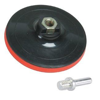 Work-it Klittenband steunschijf 125 x 10 mm met adapter