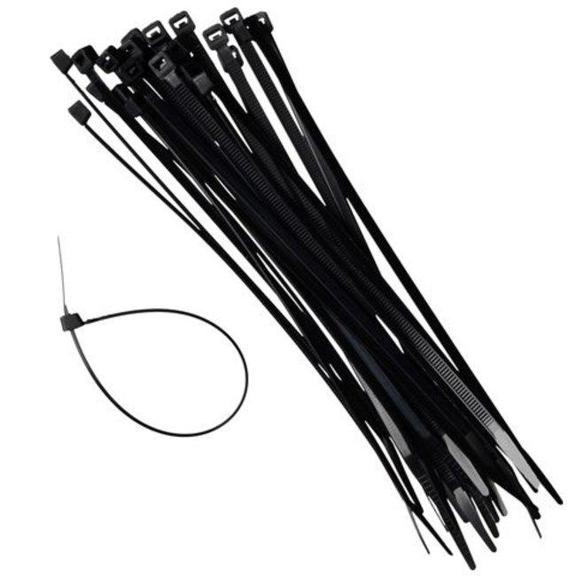 Work-plus 100 stuks kabelbinders - tie wraps zwart 3.6 x 350mm