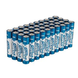 Powermaster AAA super alkaline batterij LR3, 40 pak