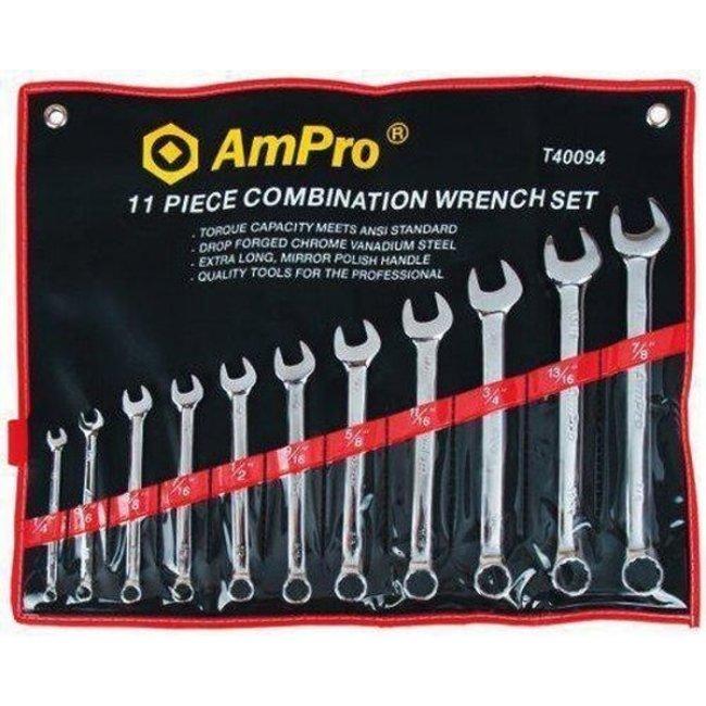 Ampro Steeksleutelset 11 delig