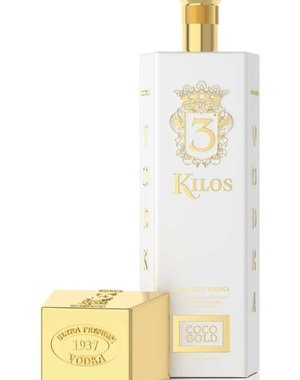 3 Kilos Vodka Coco Gold Vodka 70CL