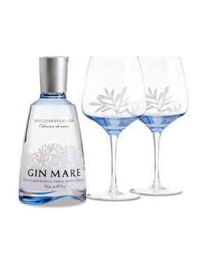 Gin Mare Single Bottle Double ballon giftpack