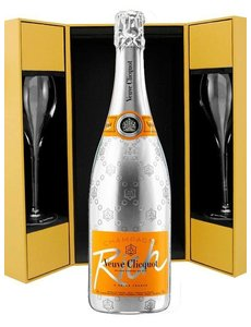 Veuve Clicquot Ponsardin Rich Luxe coffret + 2 flutes 75CL