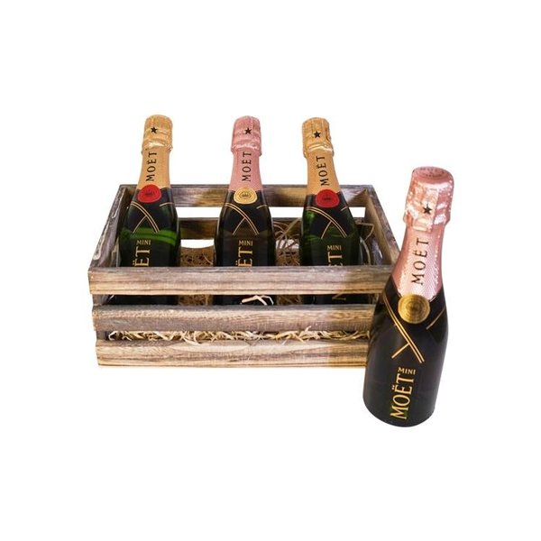 Moët & Chandon Geschenkkratje 2 x Mini Brut & Rosé 1x20CL