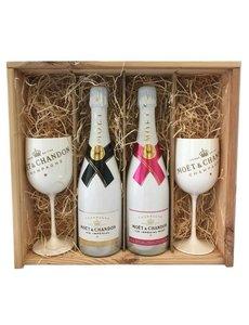 Moët & Chandon Ice & Ice Rosé Champagne Gift + 2 glazen