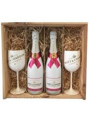 Moët & Chandon Ice Rosé in Geschenkkist 2x 75CL + 2 Glazen