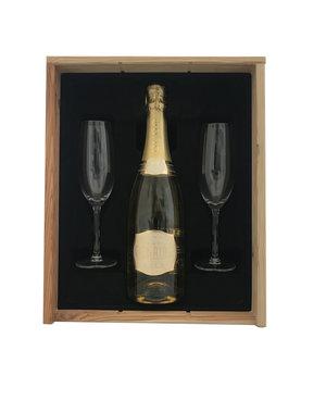 Luc Belaire gold 75CL Geschenkkist + 2 flutes