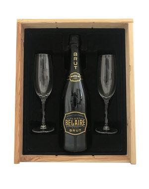 Luc Belaire Rare Gold 75CL Geschenkkist + 2 flutes