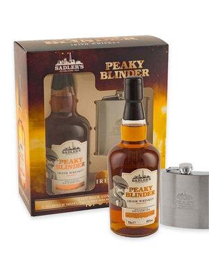 Peaky Blinders Irish Whisky en Hipflask in Giftbox - 70 cl