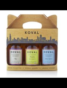 Koval Giftpack Rye, Bourbon, Four Grain (3x200ml)