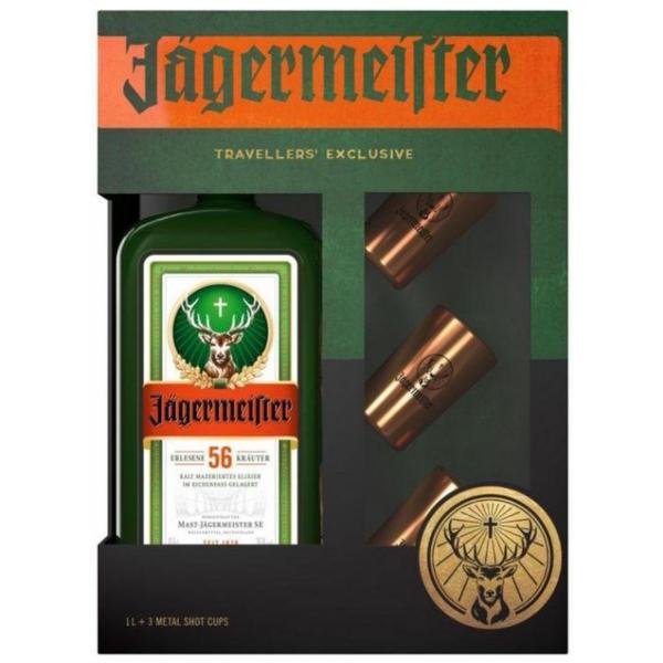 Jägermeister + 3 Metal Cup Shots