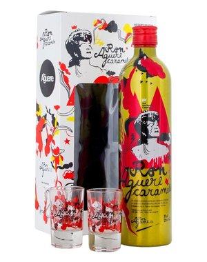 Ron Aguere Caramelo + 2 Glasses